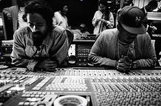 Nas and Damien Marley in the studio