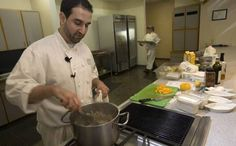 David Uygur teaches at the Dallas Farmers Market Chef's Cooking Class Series on January 17, 2009.