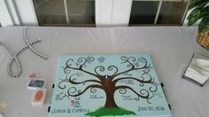 Wedding thumbprint tree