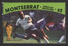Pre-release of Montserrat 1986 World Cup set (#England - Wilkins) – never issued.