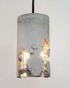 Sometimes you're only broken so your light can shine through... #concreate #lighting #lightmeup #industrial #concrete