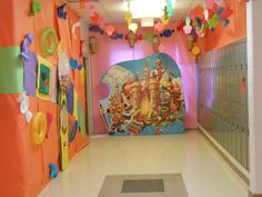 Candy Land Hall Decorations Candyland, Hall Decorations, Event Ideas, Halloween, Birthday, Homecoming, Wall, Christmas, Child