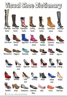 Pin by Therese Bautista on Shoes Fashion Terminology, Fashion Terms, Fashion 101, Fashion Shoes, Fashion Outfits, Fashion Accessories, Converse Boots, Shoes Names, Fashion Dictionary