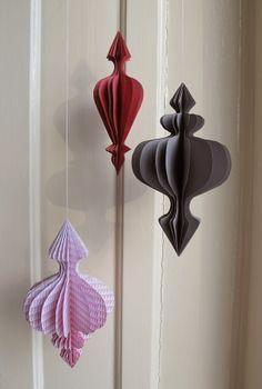 night paper ornaments + pdf