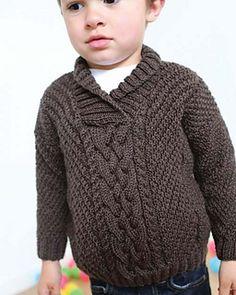 Ravelry: Clancy pattern by Ella Rae Boys Knitting Patterns Free, Knitting For Kids, Baby Knitting Patterns, Knitting Designs, Crochet Girls Dress Pattern, Crochet Baby Cardigan, Hand Knitted Sweaters, Easy Knit Blanket, Crochet Fashion