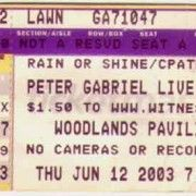 From our friend Joseph Terrazas, a Peter Gabriel ticket stub and Stubstory - http://stubstory.com/2012/02/04/peter-gabriel-and-it-did-rain-not-red-though/