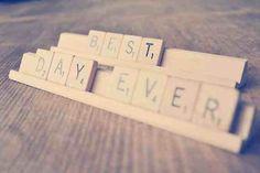 Best Day Ever - Scrabble Wedding Engagement Photo Props, Wedding Photo Props, Engagement Shoots, Engagement Photography, Wedding Photography, Wedding Signs, Our Wedding, Dream Wedding, Scrabble Letters