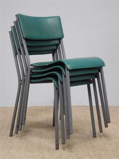 Vintage Industrial Stackable Stacking Cafe Bar Chairs *20 AVAILABLE* (inc VAT)