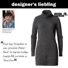 Melanies Oktober-Liebling: dieser Longstyle-Strickpullover #zerofashion