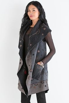 Love this! Ombre Ralli Vest by Mieko Mintz: Cotton Vest available at www.artfulhome.com