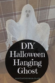 Halloween is just around the corner, why not make your own decorations with a DIY Halloween Hanging Ghost to add a bit of spooky to your party. Last Halloween, Halloween Birthday, Halloween Ghosts, Halloween Ideas, Cheesecloth Ghost, Felt Material, Diy Halloween Decorations, Food Themes, Diy Hanging