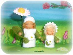 Gänseblümchen mit Kind Jahreszeitentisch von Susannelfes Blumenkinder  auf DaWanda.com