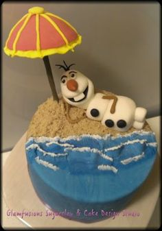 Frozen Olaf chillin' - Irene Easter Food Photo