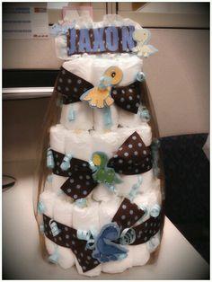 Dino babyshower diaper cake!