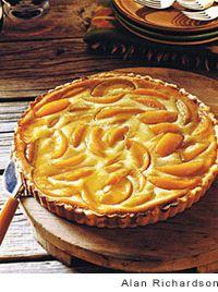 Peach Cream Tart Recipe | Leite's Culinaria