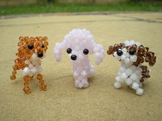 Beaded Doggies by Beadwork by Sian, via Flickr