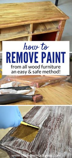 How to remove paint and varnish from wood furniture! Click to see how to do it easily the first time