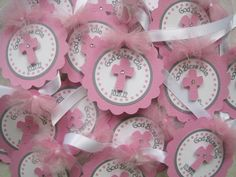 Personalized Baptism Favor Tags.....Confirmation, First communion, Christening Set Of 12. $11,00, via Etsy.