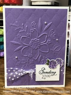 Learn how to create a variety different textures and patterns on your cards using the double embossing technique and get the most out of your folders! Card Making Tips, Card Making Tutorials, Card Making Techniques, Making Ideas, Embossing Techniques, Rubber Stamping Techniques, Embossed Cards, Embossed Paper, Stamping Up Cards