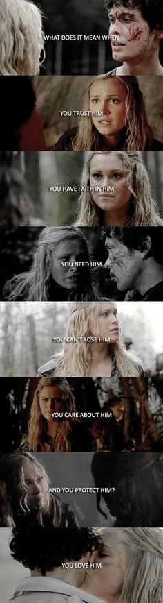 Clarke Griffin and Bellamy Blake  || The 100 || Bellarke || Eliza Jane Taylor and Bob Morley