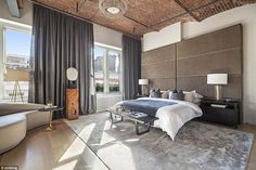 Enviable: The jaw-dropping loft, which was built in 1877 and was previously a silk showroo...
