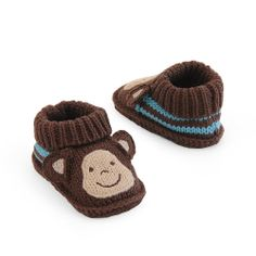 "Carter's Boys Booties - Brown Monkey (Newborn) - Goldbug - Babies ""R"" Us"