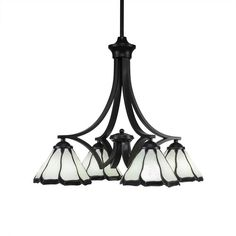 Found it at Wayfair - Zilo 4-Light Shaded Chandelier