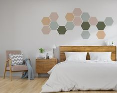 Items similar to Removable Honeycomb Wall Decal, 8 Hexagon Stickers per pack, Self Adhesive Canvas Art Sticker, Geometric Design on Etsy Wall Stickers, Wall Decals, Wall Paint Patterns, Creative Wall Painting, Honeycomb Shape, Apartment Entrance, Geometric Wall, Removable Wall, Wall Colors