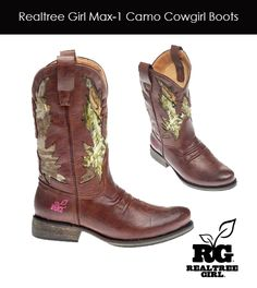 Realtree Girl Max-1 Cowgirl Leather Boots #realtreegirl #camo #boots