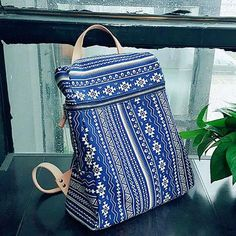 Overview:  Design: Genuine Denim vintage handmade handbag cross body bag shoulder bag bakcpack In Stock: 2-6 days to process orders Include:OnlyBackpack Custom:None Color: Blue Material: Denim Measures: 30cm x...
