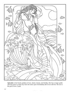 Coloring Pages Of Goddesses For Free Book