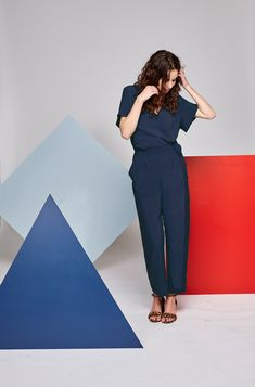 Bella Jumpsuit - Navy Tencel Capsule Wardrobe, Branding Design, Cool Outfits, Jumpsuit, Navy, Summer, Stuff To Buy, Shopping, Collection