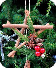 Décorations de Noël avec des bâtons de cannelle | Sakarton