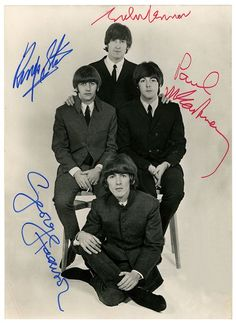 John Lennon, Richard Starkey, Paul McCartney, and George Harrison