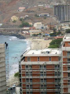 City contrasts buildings vs nature.  Praia - Cape Verde