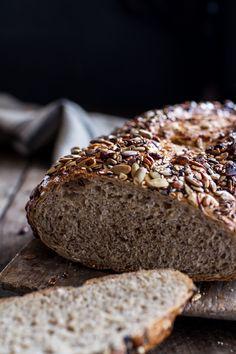 Whole Grain Bread Recipe Unique Seeded whole Grain Breakfast Bread Ciabatta, Baking Stone, Half Baked Harvest, Whole Grain Bread, Instant Yeast, Bread Baking, Bread Food, Yeast Bread, Food Food