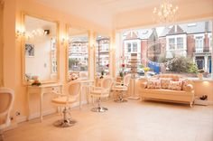 Vintage chic hair salons | The salon itself is simply stunning with beautiful French inspired ...