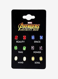 Marvel Avengers: Infinity War Infinity Stone Stud Earring Set I NEED these! They'll just look like regular earrings when worn, but I'll know the truth! Marvel Avengers, Avengers Memes, Marvel Fan, Marvel Memes, Marvel Comics, Die Rächer, Marvel Clothes, Avengers Infinity War, Marvel Cinematic Universe