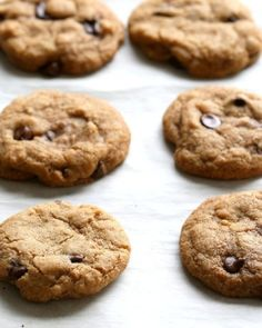 The Best Vegan Chocolate Chip Cookies. Somer's Easy Classic Chocolate Chip Cookies that are perfect for the holidays, bake sales & gifting. Vegan Recipes Beginner, Vegan Lunch Recipes, Recipes For Beginners, Vegan Desserts, Easy Recipes, Coconut Oil Cookies, Gluten Free Chocolate Chip Cookies, Chocolate Chips, Best Vegan Chocolate