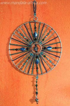 Sacred Dream Mandalas are created to be used as a Sun Light Catcher, as well as. a dream catcher, for contemplation and wholeness toward unity Dream Catcher Mandala, Dream Catcher Boho, Dream Catchers, Wire Crafts, Bead Crafts, Shell Crafts, Sun Catcher, Wire Art, Mosaic Art