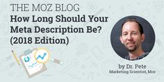 How Long Should Your Meta Description Be? (2018 Edition)  http://tracking.feedpress.it/link/9375/7774371 #searchengineoptimizationdefinition,