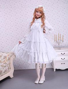Cotton White Lace Sweet Lolita Dress