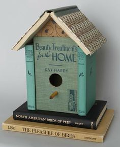 Upcycle Old Books Into a Birdhouse