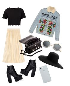 """""""Untitled #6"""" by sowos on Polyvore featuring Gucci, Ted Baker, ETUÍ, Proenza Schouler and Maison Michel"""