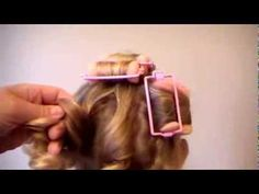 How to use sponge rollers for spiral curls - YouTube