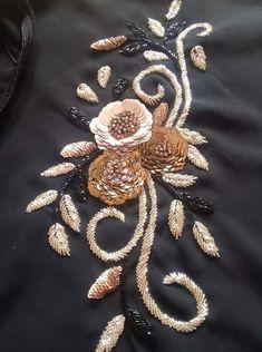 Best 12 Women formal pants, grey cotton silk with handwork, pants – SkillOfKing. Zardozi Embroidery, Hand Embroidery Dress, Embroidery Suits Design, Tambour Embroidery, Couture Embroidery, Embroidery Fashion, Silk Ribbon Embroidery, Hand Embroidery Designs, Embroidery Stitches