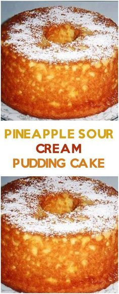 Pineapple Sour Cream Pudding Cake #pineapple #foodlover #homecooking #cooking #cookingtips Baking Recipes, Cake Recipes, Dessert Recipes, Dinner Recipes, Dinner Ideas, Pudding Recipes, Healthy Recipes, Easy Desserts, Delicious Desserts