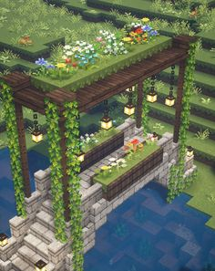 Click through to see my YouTube tutorial for this build with all the block info and mod details! 🍄🌿✨ #minecraft #minecraftfairy #fairy #fae #faerie #fairytail #fairytale #magic #magical #cottagecore #minecraftcottagecore #minecraftfairytale #bridge #minecraftfairytail