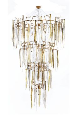 Waterfall Staircase 4 Tier Chandelier by Serip