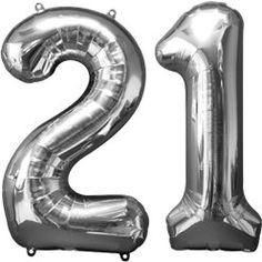 Great value birthday balloons including foil number balloons and other foil and latex balloons in a variety of shapes and designs. Large Number Balloons, 21 Balloons, Birthday Balloons, 21st Birthday Decorations, Birthday Crafts, Birthday Ideas, Crafts For Girlfriend, Daughter Birthday Cards, Style Deco